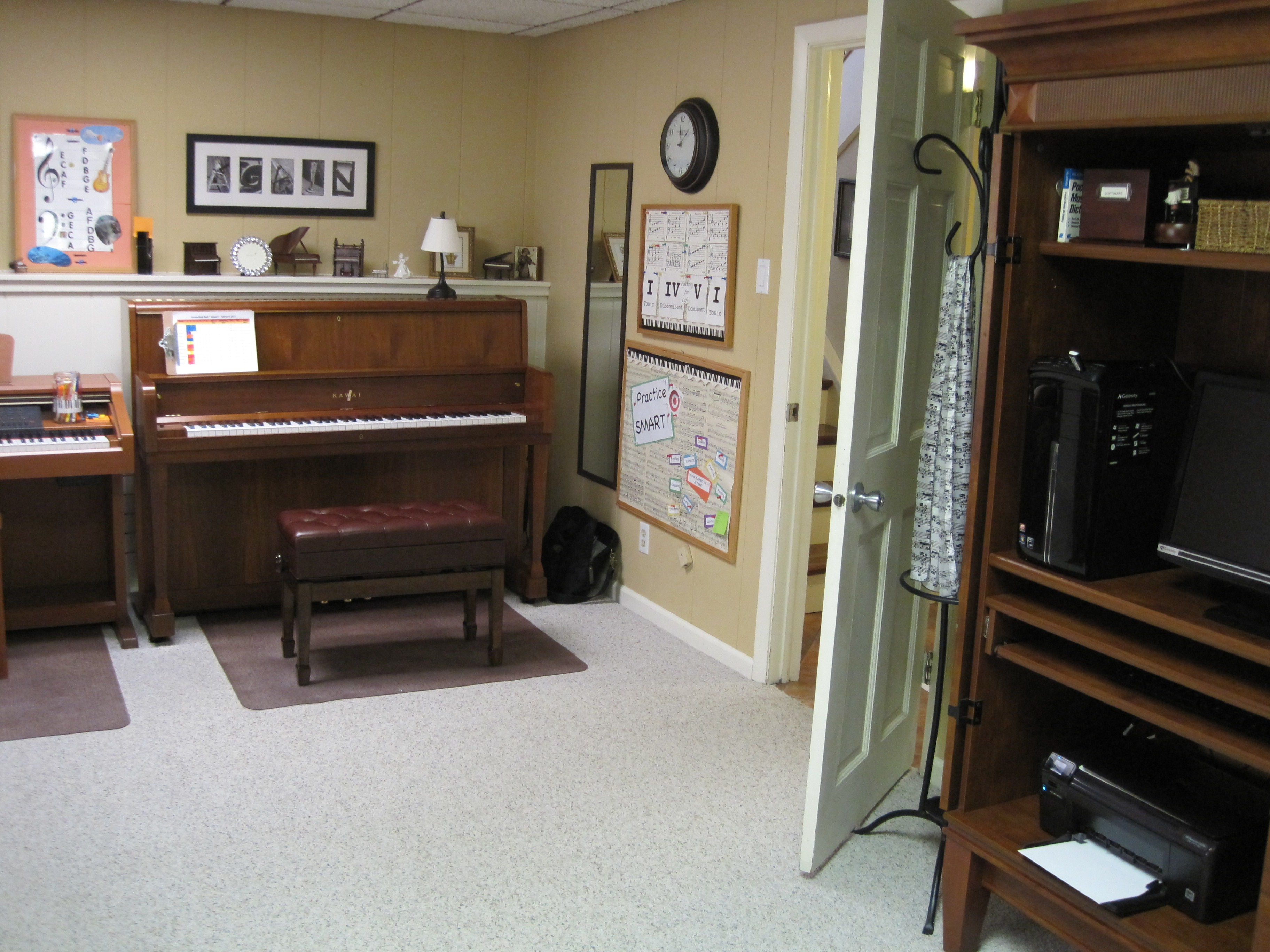 Decorating with a piano - Thanks To An Adult Piano
